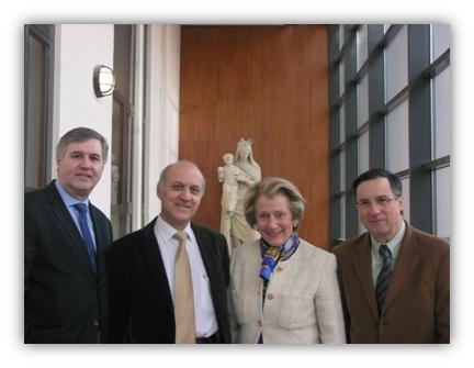 Annette Barrès Michel Garnier Pierre Raynal Thierry Zaccarini Membres du Bureau de l'OGEC